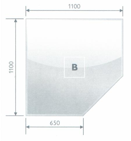 Podstavné sklo B 8 mm