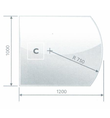 Podstavné sklo C 8 mm