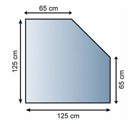 Sklo pod kamna Lienbacher,21.02.983.2/125x125cm,8mm