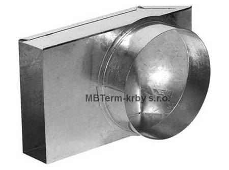 Redukce externího přívodu vzduchu krbových vložek pro flexo potrubí 125