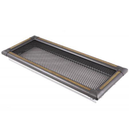 Krbová mřížka 16x45cm EXCLUSIVE grafit / mosaz patina
