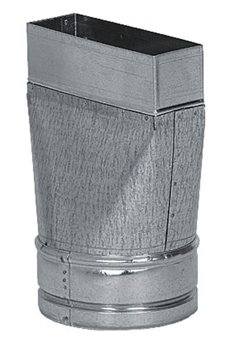 Redukce rovná, kanál - flex 125mm