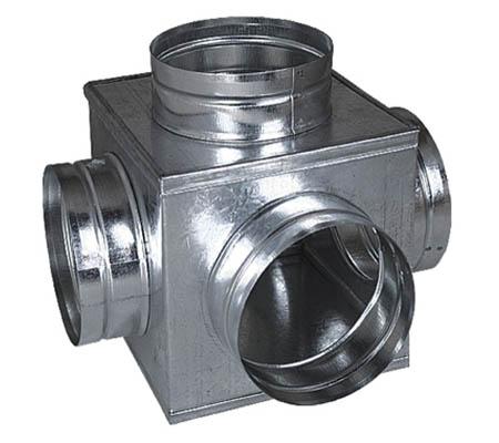 Rozbočovací skříňka 5x125mm (krychle), pozink