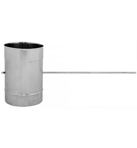 Klapka do kouřovodu nerez 1mm, 150mm