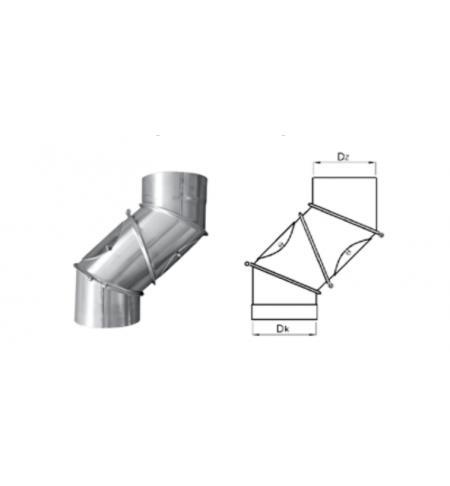 Koleno regulované 4 segmentové průměr 150