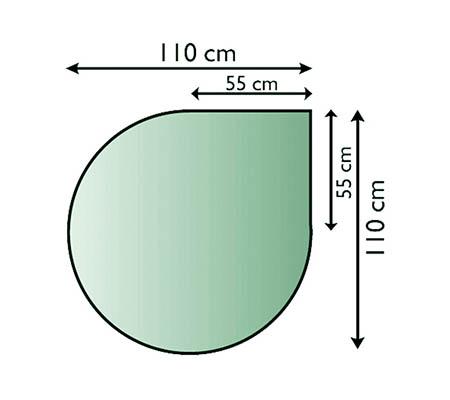 Sklo pod kamna Lienbacher, 21.02.884.2/110x110cm,8mm
