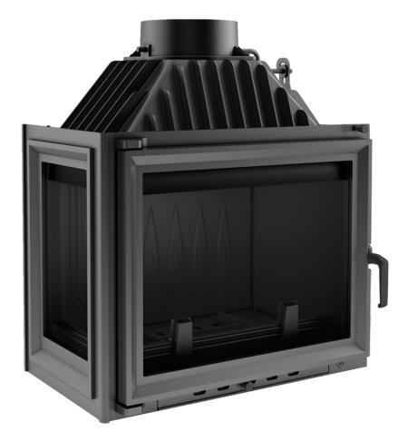 Teplovzdušná krbová vložka KRATKI Maja 8 kW boční levá