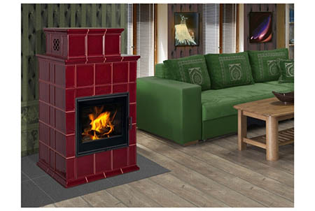 Kachlová kamna HEIN BARACCA 9 TV-s teplovodním výměníkem