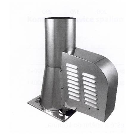 Komínový ventilátor M500 se čtvercovou podstavou průměr 200 mm