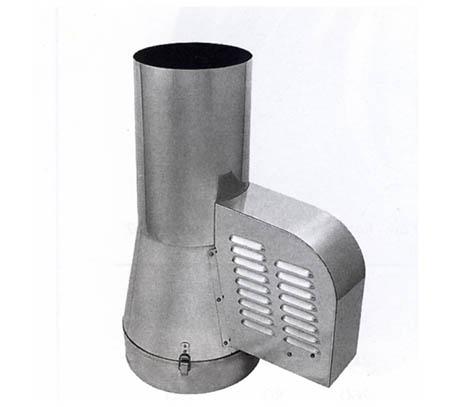 Komínový ventilátor M500 s redukcí do komína průměr 200 mm