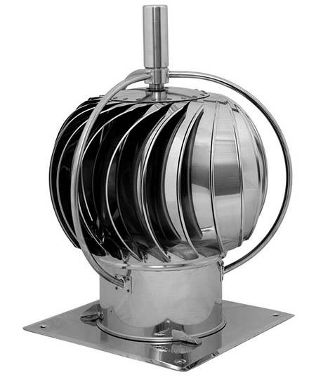 Komínová hlavice spalinová KARL S 15 se čtvercovou podstavou průměr 150 mm