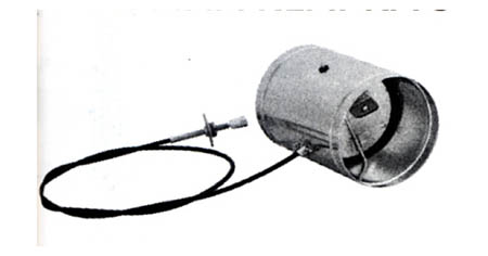 Ovládaná klapka se silikonovým těsněním 100 mm