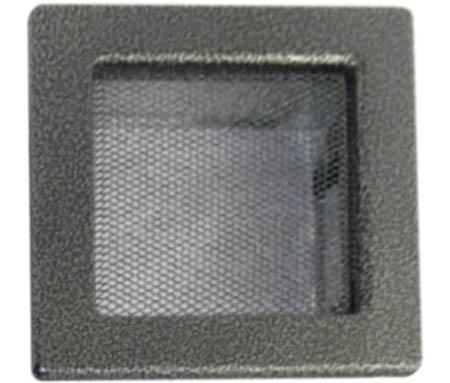 Krbová mřížka 170 x 170 mm černo-stříbrná