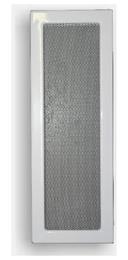 Krbová mřížka 170 x 500 mm bílá
