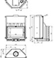 Teplovodní krbová vložka Kretz A 1303 V