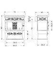 Krbová kamna INVICTA CHAUMONT antracit ref.: 6183-40