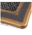 Krbová mřížka 16x32cm s žaluzií DECO zlatá patina