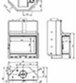 Teplovodní krbová vložka Kretz A 1308 V
