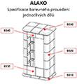 Kachlová krbová kamna Hein ALAKO 2