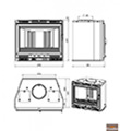 Litinová krbová vložka Chazelles CV 601 L (6 kW)