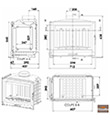 Litinová krbová vložka Chazelles D 70 G (9 kW)