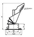Komínová hlavice K30 se čtvercovou podstavou,průměr 200 mm