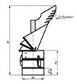 Komínová hlavice K30 s redukcí do komína,průměr 250 mm