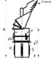 Komínová hlavice K30 s redukcí do keramického komína,průměr 150 mm