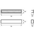Ventilační mřížka Maxi černá 600 x 100 mm