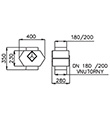 Teplovzdušný výměník KOBOK NADSTAVBA 1,5 KW DN 200