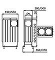 Teplovzdušný výměník VERTIKAL 75 4kW DN200/180